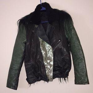 Green Genuine Leather Jacket